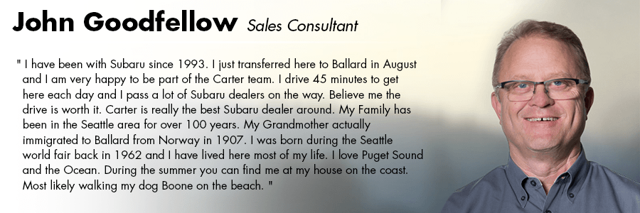 John Goodfellow, Sales Consultant at Carter Volkswagen in Seattle, WA