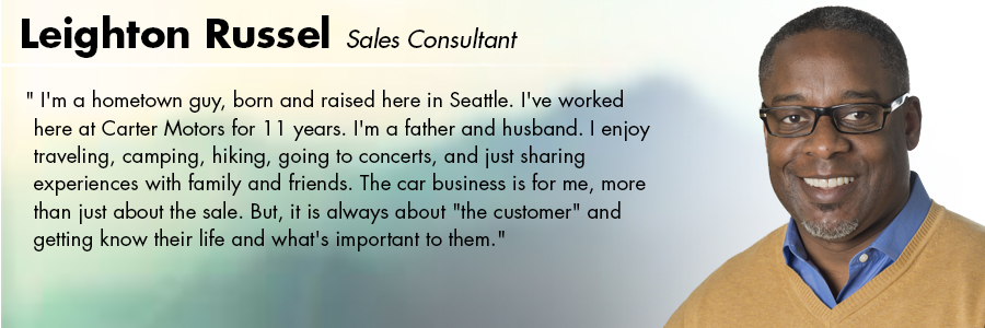 Leighton Russell, Sales Consultant at Carter Volkswagen in Seattle, WA