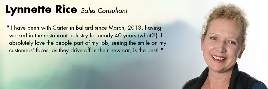Lynnette Rice, Sales Consultant at Carter Volkswagen in Seattle, WA