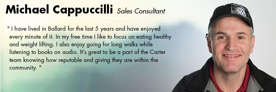 Michael Cappuccilli, Sales Consultant at Carter Volkswagen in Seattle, WA