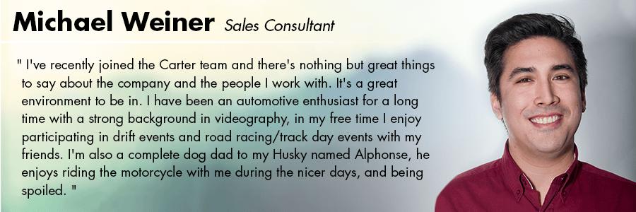 Michael Weiner, Sales Consultant at Carter Volkswagen in Seattle, WA
