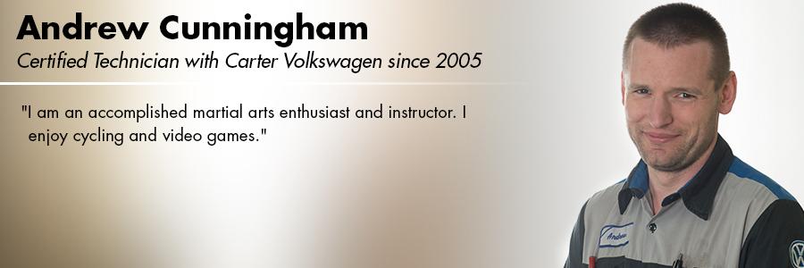 Andrew Cunningham, VW Certified Technician at Carter Volkswagen in Seattle, WA