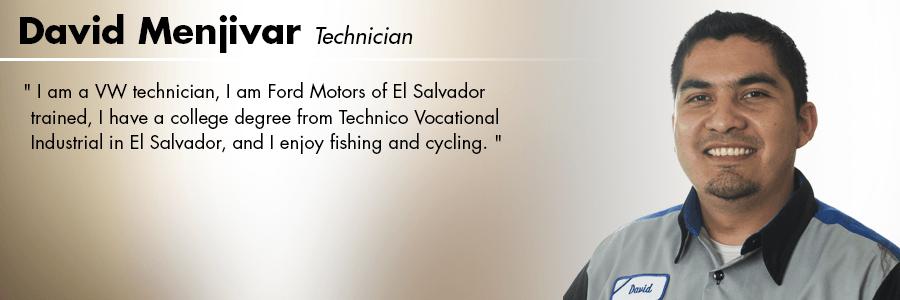 David Menjivar, Technician at Carter Volkswagen in Seattle, WA