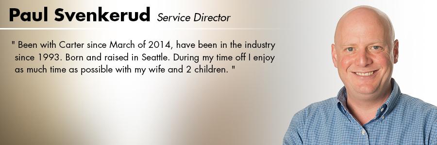Paul Svenkerud, Service Director at Carter Volkswagen in Seattle, WA