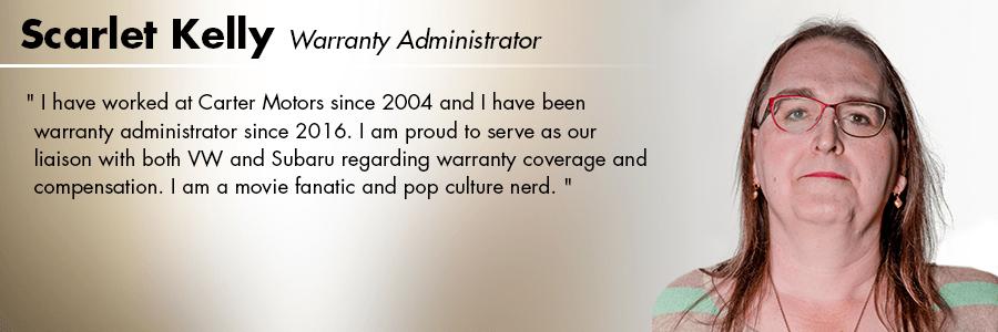 Scarlet Kelly, Warranty Administrator at Carter Volkswagen in Seattle, WA