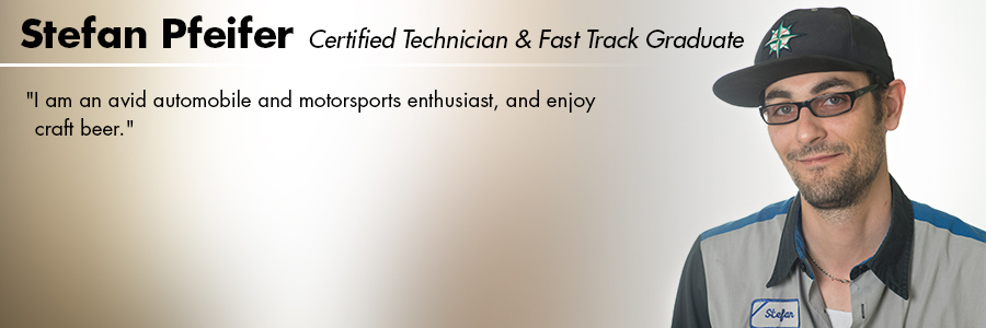 Stefan Pfeifer, Certified Technician and Volkswagen Fast Track graduate at Carter Volkswagen in Seattle, WA