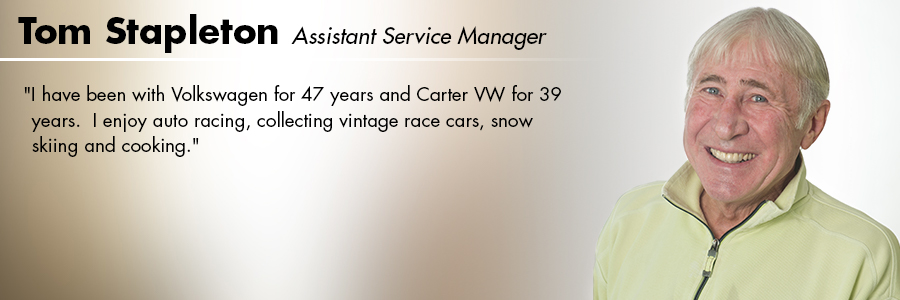 Tom Stapleton, Assistant Service Manager at Carter Volkswagen in Seattle, WA