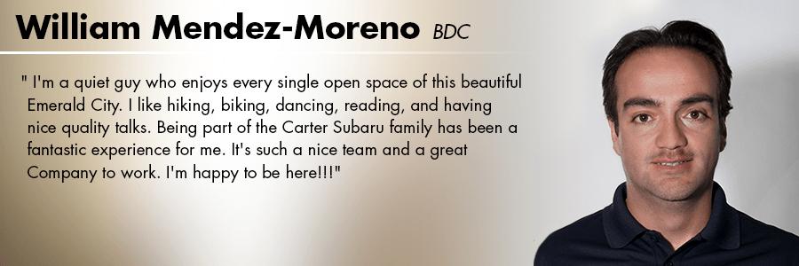 William Mendez-Moreno, BDC at Carter Volkswagen in Seattle, WA
