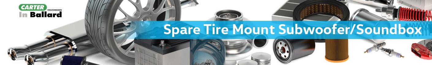Golf GTI Tire Mount Subwoofer/Soundbox Accessories Information at Carter Volkswagen in Ballard