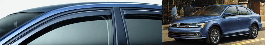 Order Jetta rear door deflectors at Carter Volkswagen in Ballard