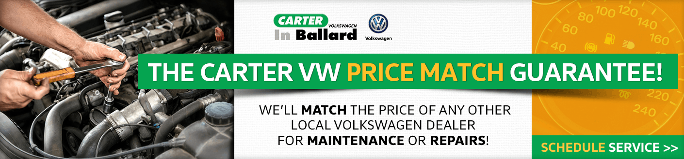 The Carter Volkswagen Price Match Guarantee in Seattle, WA