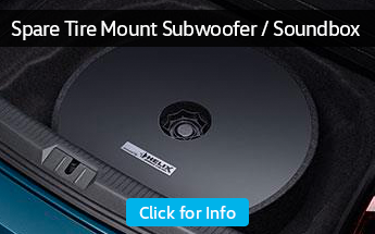 Research the spare tire mount subwoofer and soundbox at Carter Volkswagen in Ballard