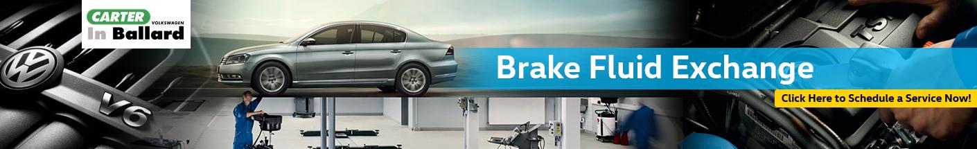 Volkswagen Brake Fluid Exchange Interior & Exterior Service Information in Seattle, WA