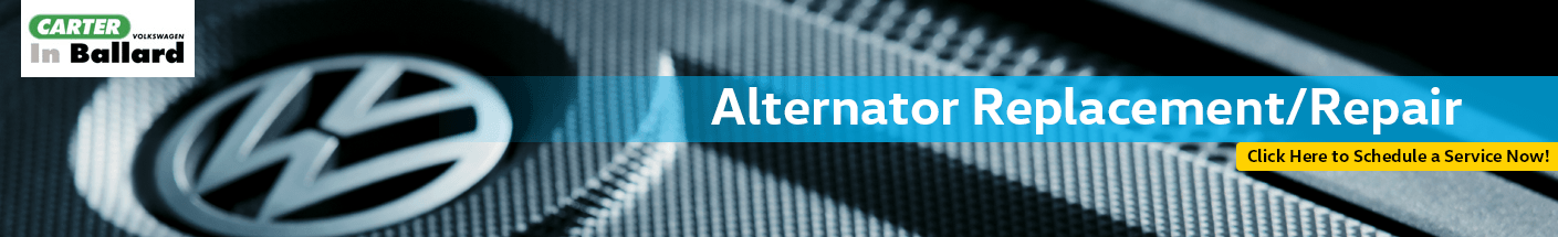 Alternator Replacement and Repair Information at Carter Volkswagen In Ballard