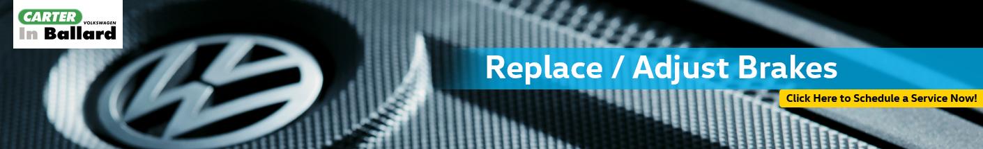 Volkswagen Brake Replacement & Ajustment Service Serving Kirkland, WA