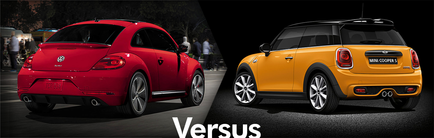 2015 Volkswagen Beetle VS 2015 MINI Cooper Hardtop 2-Door Comparison Information
