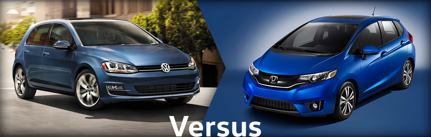2015 Volkswagen Golf VS Honda Fit Comparison Info