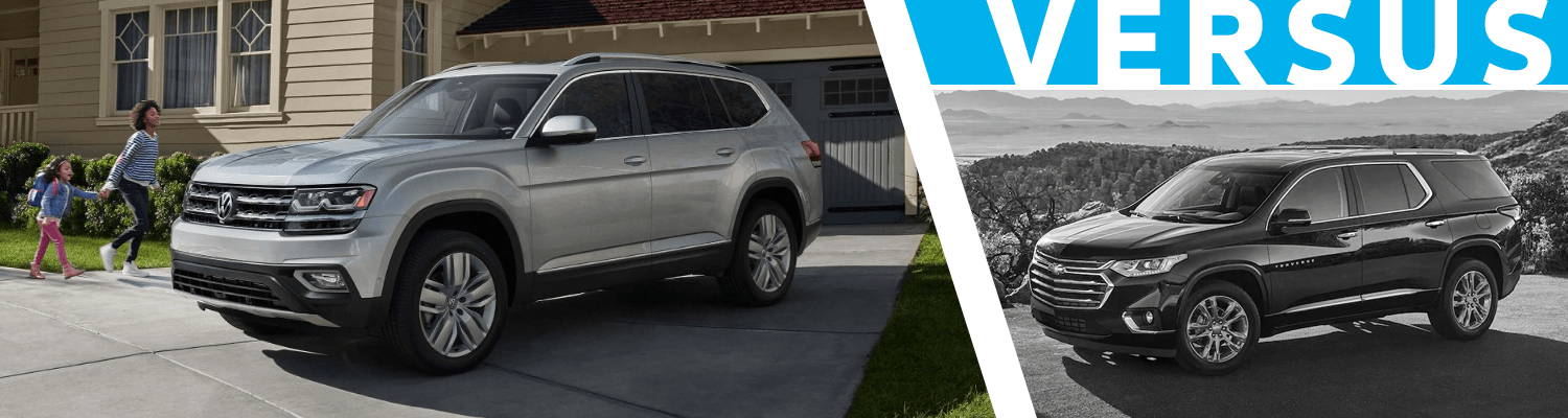 2018 Volkswagen Atlas vs Chevrolet Traverse  Comparison Model Research