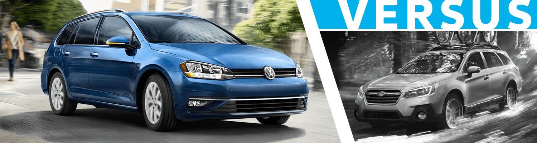 2018 Volkswagen Golf Sportwagen vs 2018 Subaru Outback Comparison Information in Seattle, WA