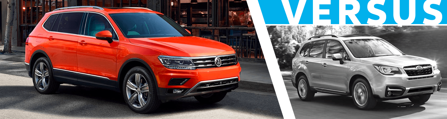 2018 Volkswagen Tiguan VS 2018 Subaru Forester Comparison Information in Seattle, WA