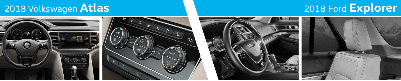 2018 Volkswagen Atlas vs 2018 Ford Explorer Interior Details
