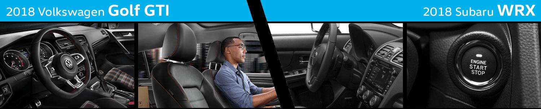 Compare The Interior Styling of the New 2018 Volkswagen Golf GTI vs 2018 Subaru WRX