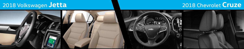 Compare The Interior Styling of the New 2018 Volkswagen Jetta vs 2018 Chevrolet Cruze