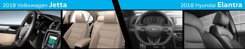 Compare The Interior Styling of the New 2018 Volkswagen Jetta vs 2018 Hyundai Elantra