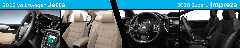 Compare The Interior Styling of the New 2018 Volkswagen Jetta vs 2018 Subaru Impreza
