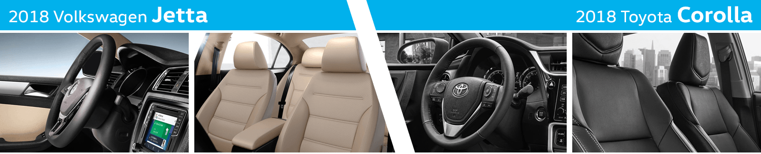 Compare The Interior Styling of the New 2018 Volkswagen Jetta vs 2018 Toyota Corolla