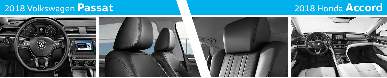 Compare The Interior Styling of the New 2018 Volkswagen Passat vs 2018 Honda Accord