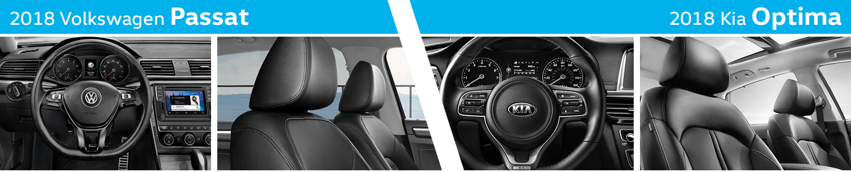 2018 Volkswagen Passat vs 2018 KIA Optima Interior Comparison