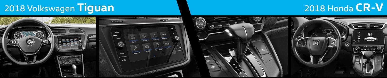 Compare The Interior Styling of the New 2018 Volkswagen Tiguan vs 2018 Honda CR-V