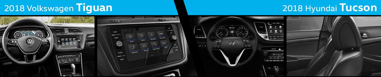 Compare 2018 Volkswagen Tiguan VS 2018 Hyundai Tucson Interior Design