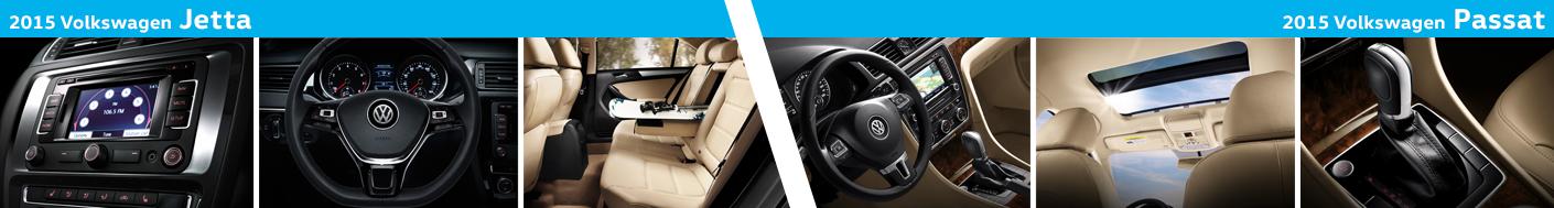 2015 Volkswagen Jetta VS Passat Interior