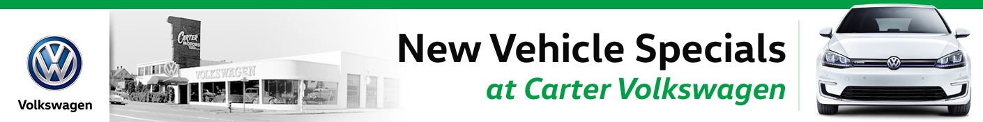 Carter Volkswagen New Vehicle Special Discount Offers serving Seattle, WA