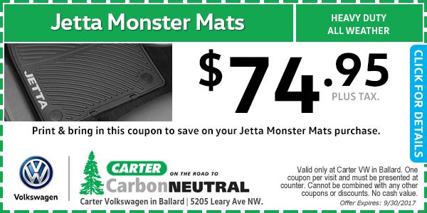 Volkswagen Jetta Monster Mats Special Seattle, Washington