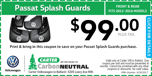 Volkswagen Passat Splash Guards Special Seattle, Washington
