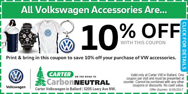 Carter Volkswagen Accessories Special Seattle