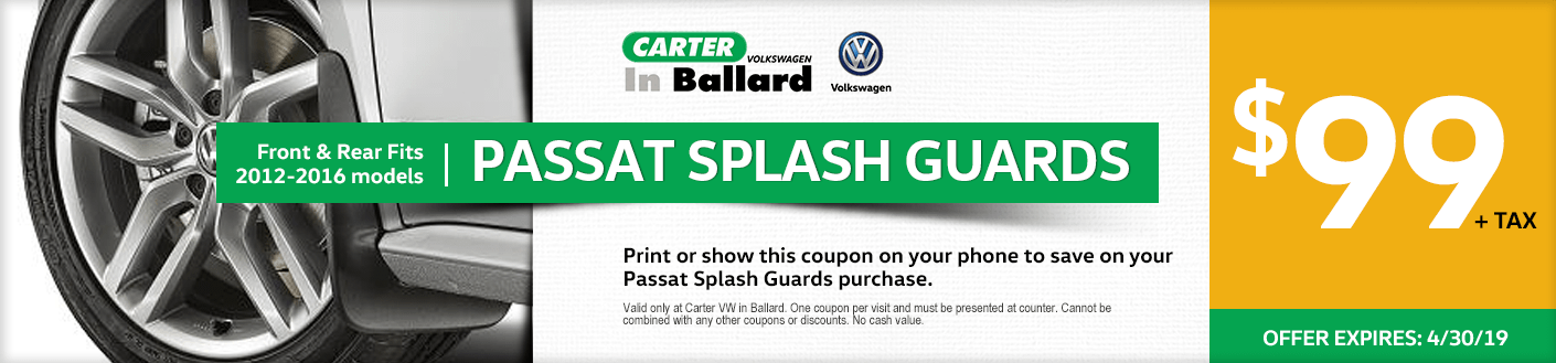 Volkswagen Passat Splash Guards Special Seattle, Washington