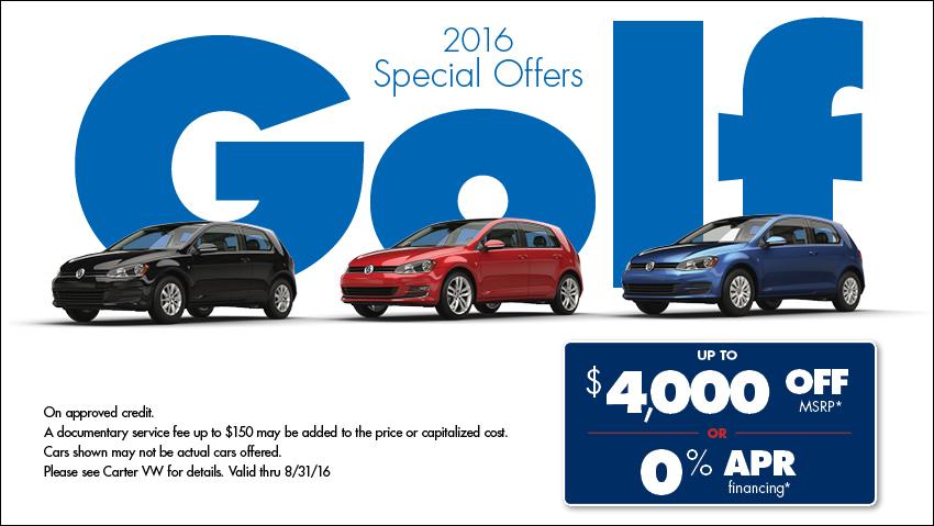 New 2016 Volkswagen Specials At Your Seattle Vw Dealer