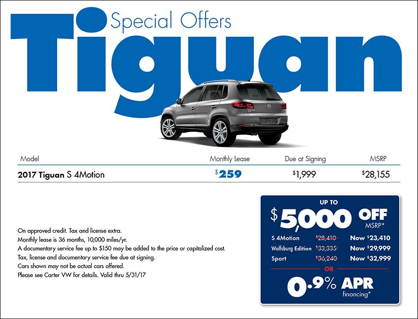 2017 Volkswagen Tiguan S Sales Special in Seattle, WA