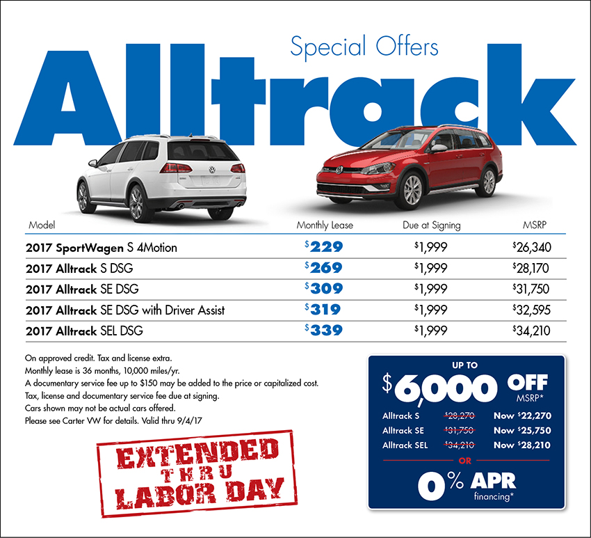 2017 Volkswagen Alltrack Sales Special in Seattle, WA