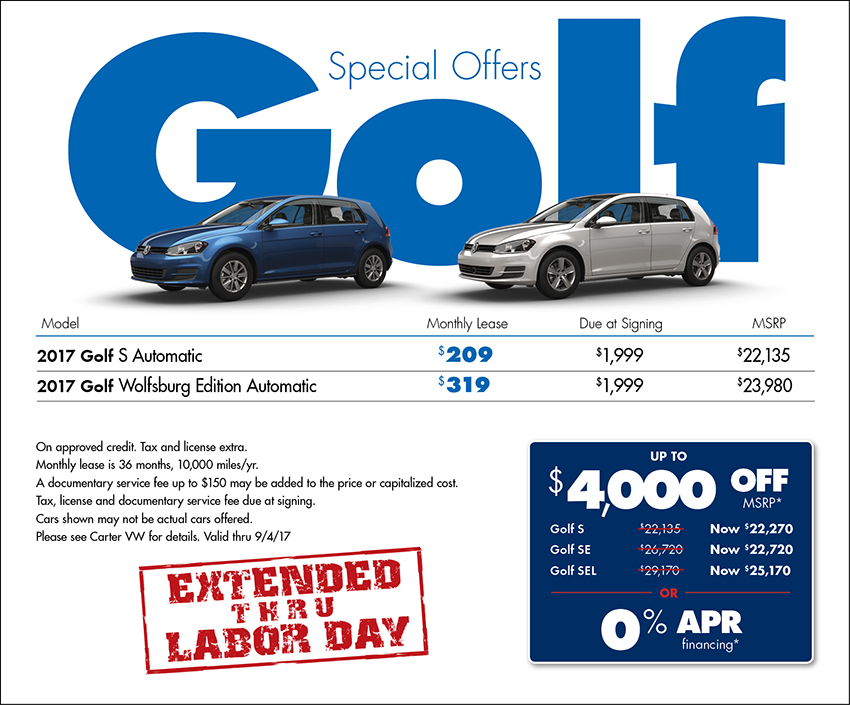 2017 Volkswagen Golf Sales Special in Seattle, WA
