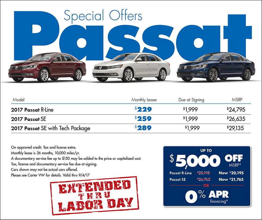 2017 Volkswagen Passat S Sales Special in Seattle, WA