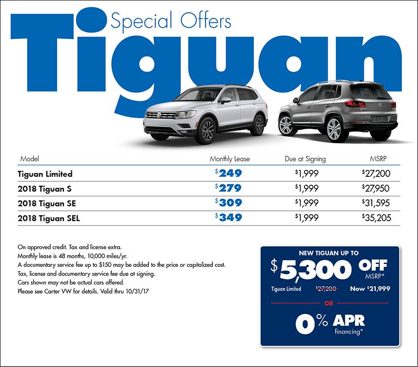 2018 Volkswagen Tiguan S Sales Special in Seattle, WA