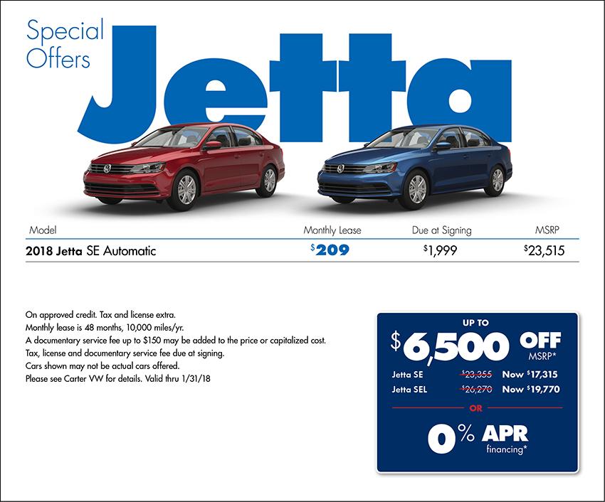 2018 Volkswagen Jetta SE Sales or Lease Special in Seattle, WA
