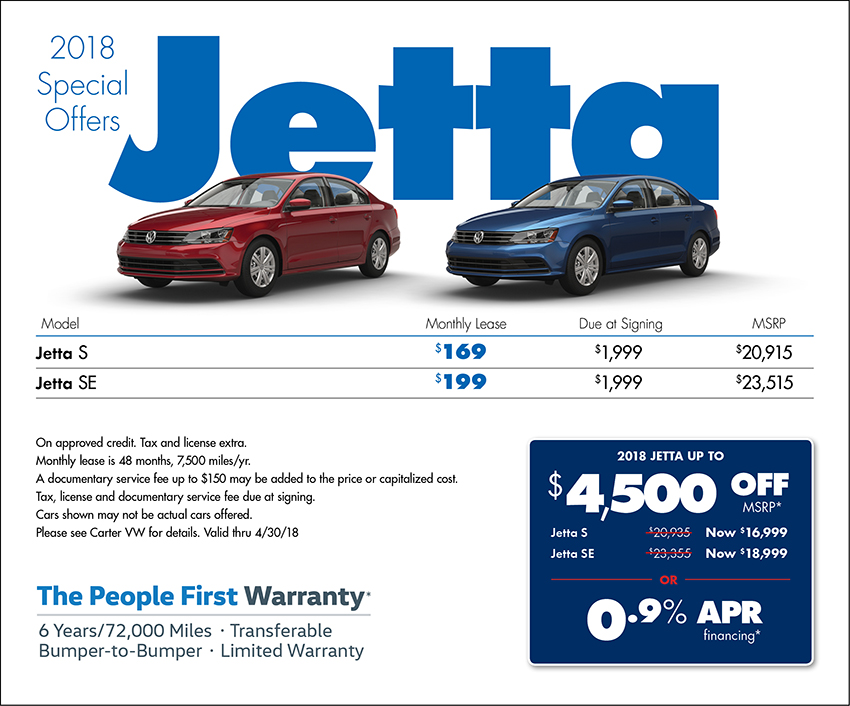 2018 Volkswagen Jetta Sales & Lease Specials in Seattle