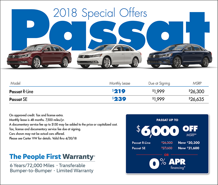 2018 Volkswagen Passat Sales & Lease Specials in Seattle