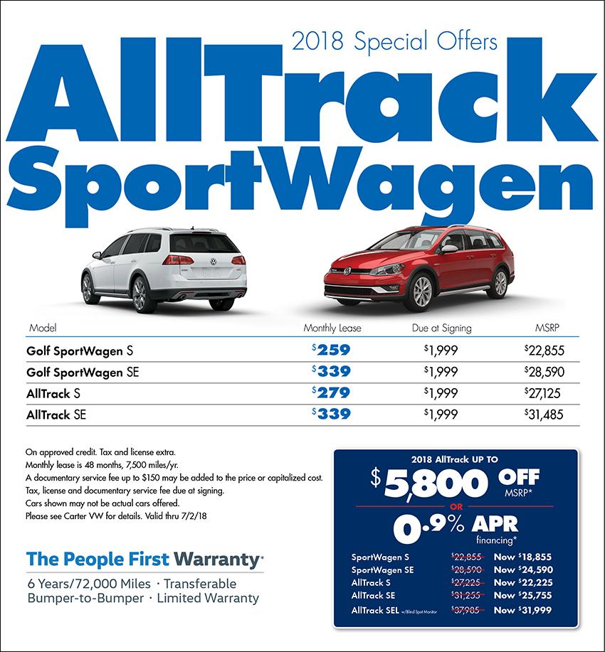 2018 Golf Alltrack Sportwagen Sales or Lease Special in Seattle, WA